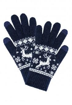 Перчатки сенсорные зимние цвет синий
