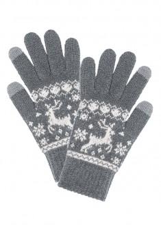 Перчатки сенсорные зимние цвет серый