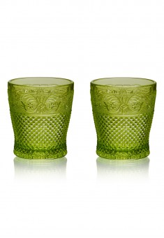 Glasses 2 pcs set emerald