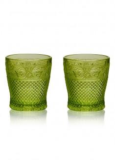 Набор из двух стаканов цвет изумруд