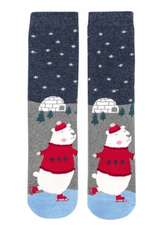 Bear Socks in a ball blue
