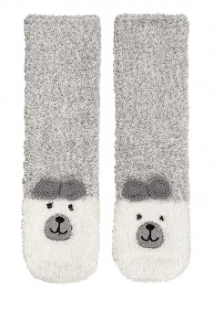 New Yearstyle Bear Socks in a Christmas packaging grey