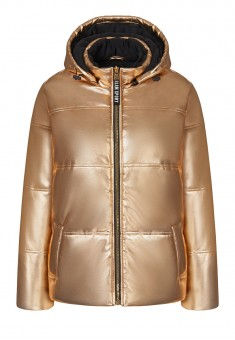 Утепленная куртка цвет золотистый