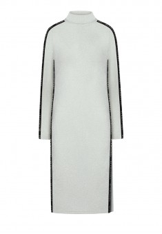 Платье с люрексом цвет белый
