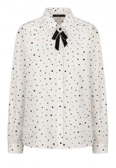 Блузка со съемной брошью цвет белый