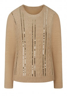 Paillette Knit Jumper beige