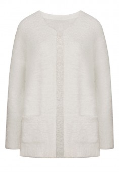 Lurex Knit Cardigan white