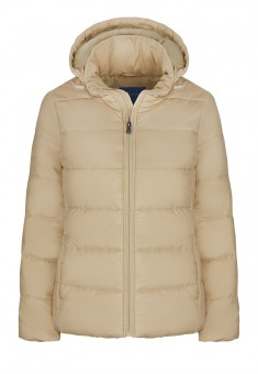 Insulated Quilted Coat beige