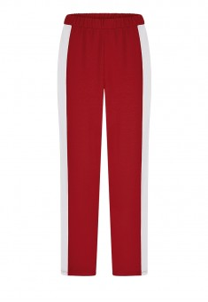 Side Stripe Trousers red