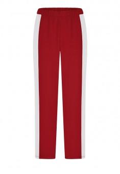 Bikses sarkanā krāsā ar sānos izvietotām nošuvēm