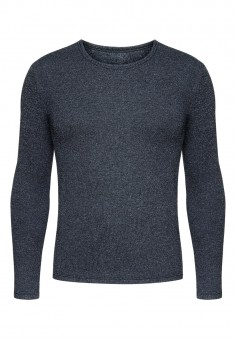Mens Long Sleeve Thermal Top grey melange