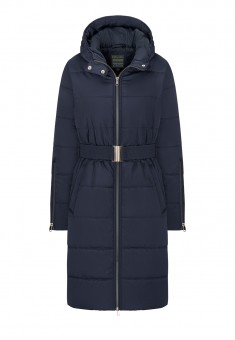 Insulated Quilted Coat dark blue