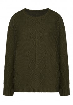 Cable Knit Jumper dark green