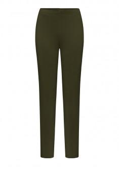 Утепленные обтягивающие брюки цвет темнозеленый