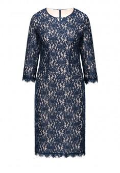 Платье из кружева цвет темносиний