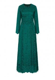 Платье из кружева цвет зеленый