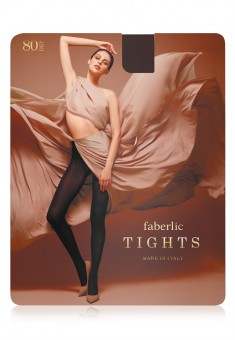 Microfiber Tights 80 den chocolate brown