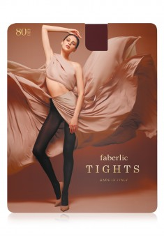Microfiber Tights 80 den burgundy
