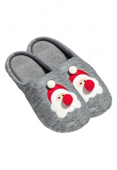 Santa Claus Slippers grey melange
