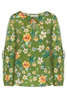 Блузка с длинным рукавом мультицвет