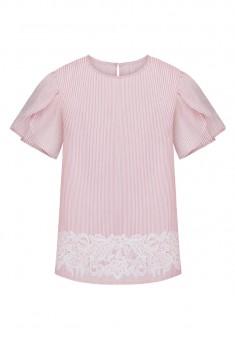 Блузка с коротким рукавом мультицвет