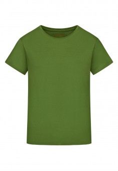 Трикотажна фуфайка з коротким рукавом колір зелений