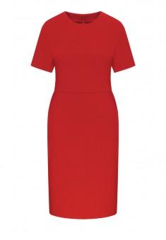 Трикотажное платье с коротким рукавом цвет тёмнокрасный