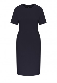 Трикотажное платье с коротким рукавом для женщины цвет темносиний
