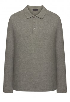 Light Jersey Polo Neck Jumper for men grey melange