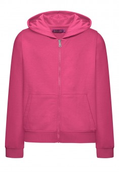 Long Sleeve Hoodie for girls fuschia