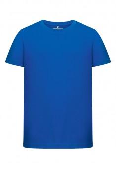 Трикотажная фуфайка с коротким рукавом для мальчика цвет синий