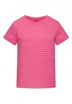 Трикотажна фуфайка з коротким рукавом колір рожевий