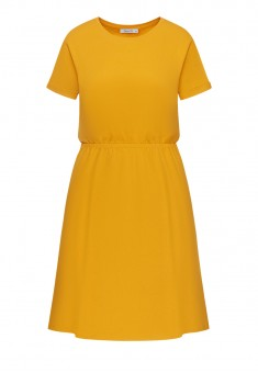 Short Sleeve Jersey Dress yellow