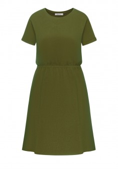 Short Sleeve Jersey Dress khaki
