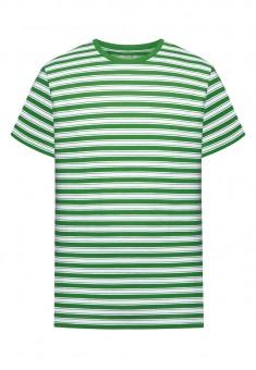 Трикотажна фуфайка з коротким рукавом для чоловіків колір зелений