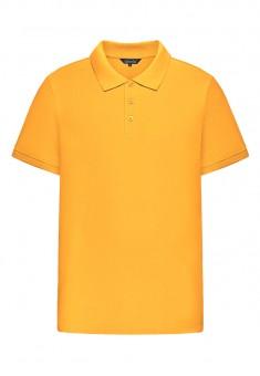 Легкий трикотажний джемпер з коміром поло для чоловіка колір жовтий
