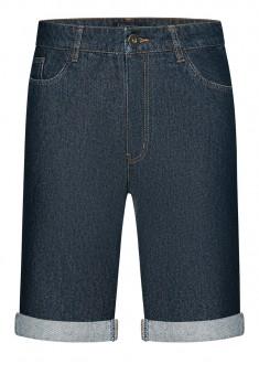 Шорти з джинсової тканини для чоловіка колір темносиній