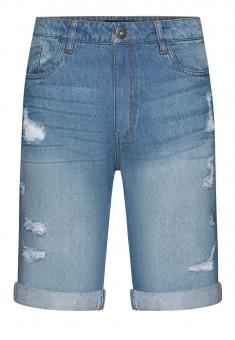 Джинсовые шорты с потертостями для мужчины цвет голубой