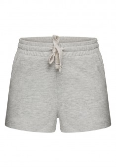 Girls Jersey Shorts light grey melange