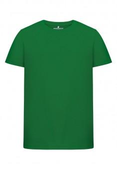 Dzianinowa koszulka z krótkim rękawem dla chłopca kolor trawiasty