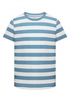 Dzianinowa koszulka z krótkim rękawem dla chłopca kolor niebieski
