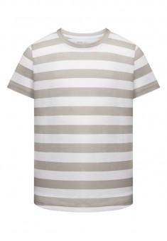 Dzianinowa koszulka z krótkim rękawem dla chłopca kolor szary