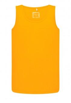 Dzianinowa koszulka na ramiączkach dla chłopca kolor jasnopomarańczowy