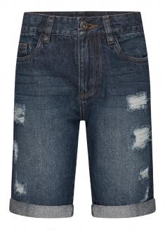 Джинсовые шорты с потертостями для мальчика цвет синий