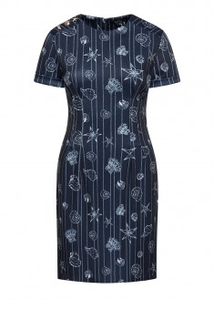 Short Sleeve Jersey Dress dark blue