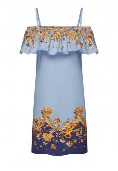 платье без рукавов для женщины цвет мультицвет