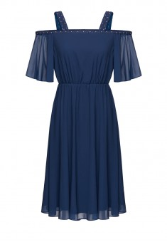 Short Sleeves Dress dark blue
