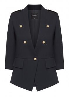 Трикотажный пиджак цвет тёмносиний