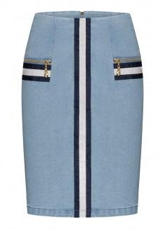 Юбка из джинсовой ткани цвет голубой