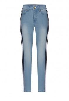 брюки из джинсовой ткани для женщины цвет голубой